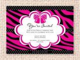 Diva Invitation Templates Little Diva Animal Print Invitation Diy Printable for Baby
