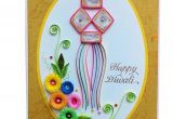 Diwali Greeting Card Handmade Easy Handcrafted Emotions Handmade Quilled Diwali Greeting Card