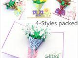 Diy 3d Flower Pop Up Card Groa Handel 4 Packed Pop Up Karten Alles Gute Zum Geburtstag Dekorationen Gardenia Rose Lily Sunflower Geschenkkarten Grua Karten Fur Gratulation Von