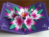 Diy 3d Flower Pop Up Card Making A 3d Flower Pop Up Card Easy and Simple Steps