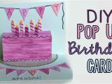 Diy Cake Pop Up Card for Birthday Diy Pop Up Birthday Card D