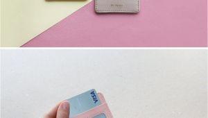 Diy Card Holder for Phone Id Badge Holder Green Transportation Card Leather Card