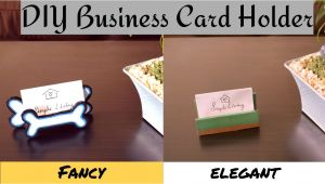 Diy Card Holders for Tables Diy Business Card Holder Stand for Table How to Make