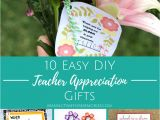 Diy Card Ideas for Teachers 10 Easy Diy Teacher Appreciation Gifts Making Time for
