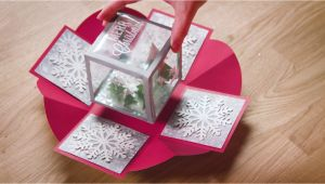 Diy Card In A Box Holiday Exploding Box Card Exploding Box Card Diy