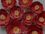 Diy Chinese New Year Card D I Y Paper Peonies Paper Peonies Chinese New Year
