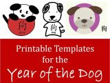 Diy Chinese New Year Card Kids Crafts for Chinese New Year Printable Dog Templates
