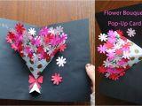 Diy Flower Bouquet Pop Up Card 235 Best Make Paper Images In 2020 Paper Crafts origami