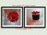 Diy Flower Bouquet Pop Up Card Kako Napraviti Buket Ruza Od Papira U Kutiji Diy How to Make A Bouquet Of Roses From Paper