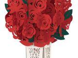Diy Flower Bouquet Pop Up Card Rose Bouquet Classic Rose Bouquet Valentines Pop Up