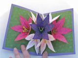 Diy Flower Bouquet Pop Up Card Seven Flower Pop Up Card Pop Up Flower Cards Flower Cards