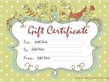 Diy Gift Certificate Template 9 Homemade Gift Certificate Templates Free Sample