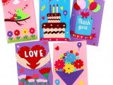 Diy Handmade Greeting Card Kits Card Making Kits Diy Handmade Greeting Card Kits for Kids Christmas Card Folded Cards and Matching Envelopes Thank You Card Art Crafts Crafty Set