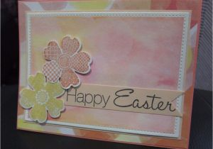 Diy Handmade Greeting Card Kits Diy Stampin Up Happy Easter Watercolor Bokeh Flower