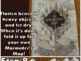Diy Harry Potter Birthday Card Diy Hary Potter Marauders Map Tutorial and Printable From