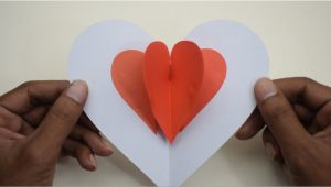 Diy Heart Pop Up Card Diy Pop Up Card Heart A Easy Pop Up Card Tutorial