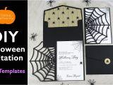 Diy Invitation Card for Birthday Diy Halloween Invitation Card Cobweb Invitations Using the Cricut