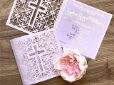 Diy Invitation Card for Christening Christening Invitation Baptism Invitation Lasercut
