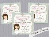 Diy Invitation Card for Christening Pin On First Communion