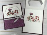 Diy Napkin Fold Card for Scrapbook Painted Poppies Stampin Up Cards Stamping Up Cards