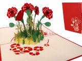 Diy Pop Up Card Flower 3d Pop Up Card Birthday Greeting Cards Gift Flowers Wedding