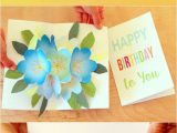 Diy Pop Up Card Flower Free Printable Happy Birthday Card with Pop Up Bouquet