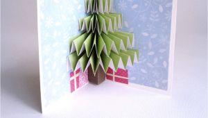 Diy Pop Up Christmas Card Christmas Tree Pop Up Card Pop Up Christmas Cards