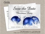 Diy Save the Date Cards Templates Save the Date Christmas Party Template Free Invitation