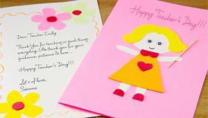 Diy Teachers Day Card Handmade How to Make A Homemade Teacher S Day Card 7 Steps with