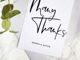 Diy Thank You Card Template Modern Script Wedding Thank You Card Template Hand Lettered