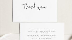Diy Thank You Card Template Printable Thank You Card Wedding Thank You Cards Instant
