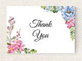 Diy Thank You Card Template Wedding Thank You Card Printable Floral Thank You Card