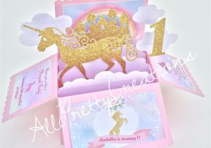Diy Unicorn Pop Up Card A Personal Favorite From My Etsy Shop Https Www Etsy Com