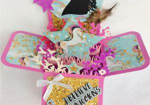Diy Unicorn Pop Up Card Personalised Unicorn Pop Up Birthday Card Kids Birthday