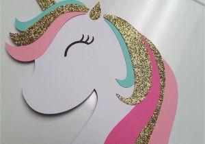Diy Unicorn Pop Up Card Unicorn Cake topper Unicorn Birthday Banner Unicorn Pary