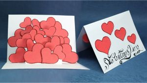 Diy Valentine Card for Him Pop Up Valentine Card Hearts Pop Up Card Step by Step