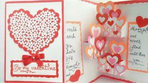 Diy Valentines Pop Up Card Diy Pop Up Valentine Day Card How to Make Pop Up Card for