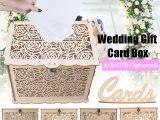 Diy Wedding Card Box with Lock Diy Wooden Wedding Card Box with Lock Money Gift Rustic Box for Wedding Party Ebay