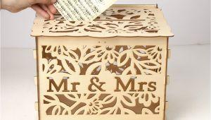Diy Wedding Card Box with Lock Elegant Wedding Card Box with Lock Hollow Out Wooden Wishing