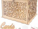 Diy Wedding Card Box with Lock Hokic Diy Wedding Card Box with Lock Large Rustic Wood Wedding Gift Box Money Box for Rustic Wedding Bridal Baby Shower Birthday Rainforest theme