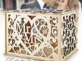 Diy Wedding Card Box with Lock Lutani Wedding Money Box with Lock for Cards Diy Wedding Card Box Wedding Gift Boxes for Baby Showers Anniversary Party Decorations Natural