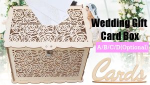 Diy Wooden Wedding Card Box Details About Diy Wooden Wedding Card Box with Lock Money Gift Rustic Box for Wedding Party