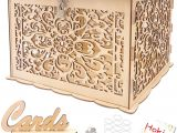 Diy Wooden Wedding Card Box Hokic Diy Wedding Card Box with Lock Large Rustic Wood Wedding Gift Box Money Box for Rustic Wedding Bridal Baby Shower Birthday Rainforest theme