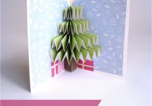 Diy Xmas Pop Up Card Christmas Tree Pop Up Card Pop Up Christmas Cards Diy