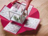Diy Xmas Pop Up Card Holiday Exploding Box Card Exploding Box Card Diy