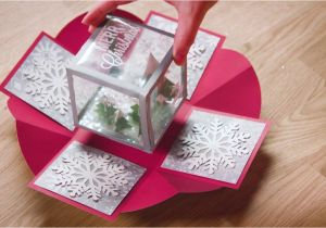 Diy Xmas Pop Up Card Holiday Exploding Box Card Exploding Box Card Diy