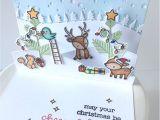 Diy Xmas Pop Up Card Lawn Fawn Intro Everyday Pop Ups Stitched Hillside Pop Up