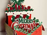 Diy Xmas Pop Up Card Merry Christmas Festive Box Card with Images Boxed
