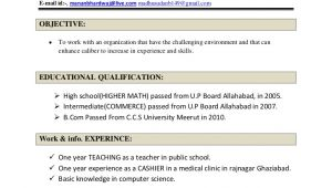 Dmlt Student Resume Madhusudan Bhardwaj Resume for Dmlt Addmission