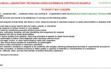 Dmlt Student Resume Medical and Clinical Laboratory Technician Work Experience